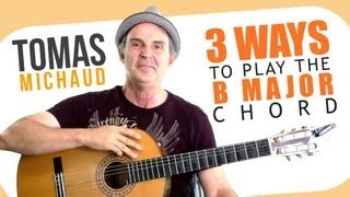 3 Easy(iest) B Chord Guitar Finger Position - Beginning Guitar