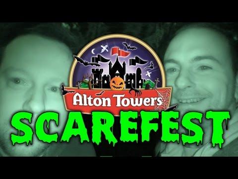 Alton Towers Scarefest 2016! Halloween Scare Mazes!