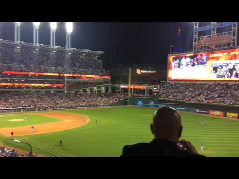 Rajai Davis home run crowd reaction in Game 7 of the World Series, Indians vs. Cubs