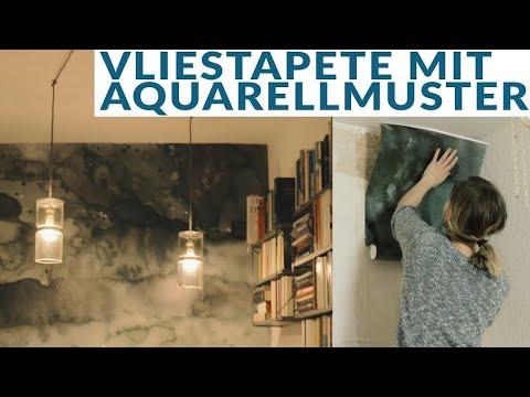 Chaotisches Flur Make Over mit wunderschöner Aquarellwand | DIY