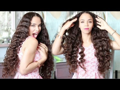 Easy No Heat Curls!  Heatless Curls Beach Waves Tutorial No Heat No Tools!