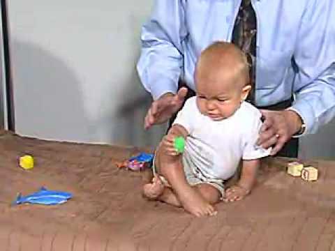 Pediatric Neuro Exam 6 Month Postural Reflexes Lateral