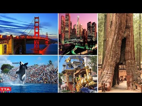 Top 10 Tourist Attractions in USA | Best Destinations in California | California Tourism Video
