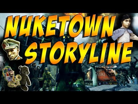 Black Ops 2 Zombies: Nuketown Storyline - Richtofen. Samantha. Maxis and Moon Easter Egg