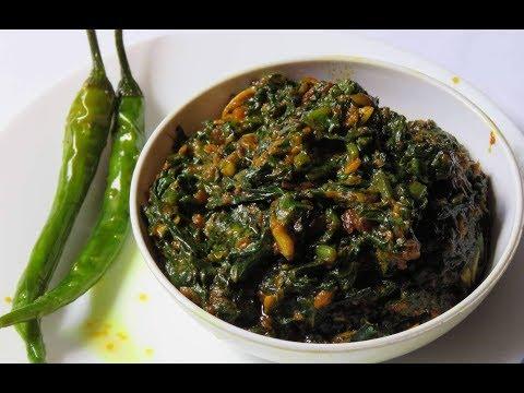 પાલક - બેસનનું શાક બનાવવાની રીત | Besan Spinach Recipe | Palak Besan Nu Shaak