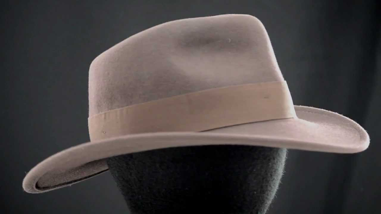 Indiana Jones Crushable Wool Fedora Hat Indiana Jones Hat Crushable