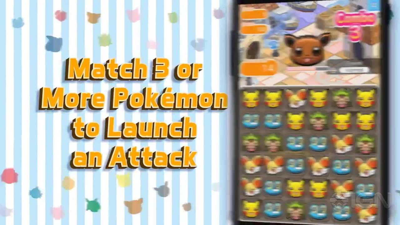 Pokemon Shuffle Mobile - Official Announcement Trailer