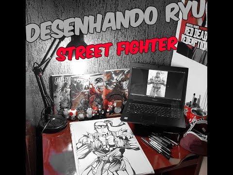 Desenhando Ryu do street fighter