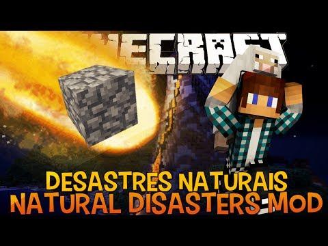 Desastres Naturais (Terremoto, Vulcão, Meteoro e Crateras) - Natural Disasters Mod Minecraft