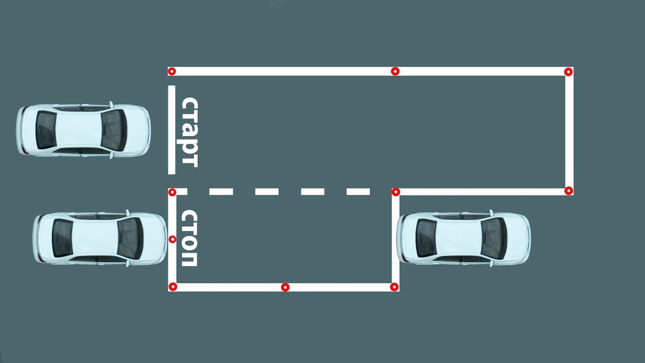 Параллельная парковка пошаговая схема