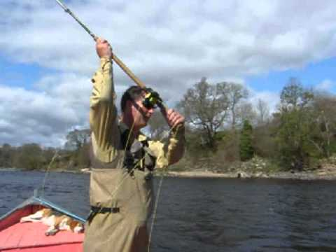 Scottish Ghillie Salmon Fishing River Tay Perthshire Scotland...