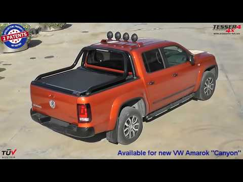 At www.accessories-4x4.com: VW Amarok Canyon accessories 2013 roller lid off road 4x4 review