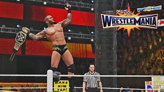 WWE Wrestlemania 33 Randy Orton vs Bray Wyatt WWE Championship 2K17 Match