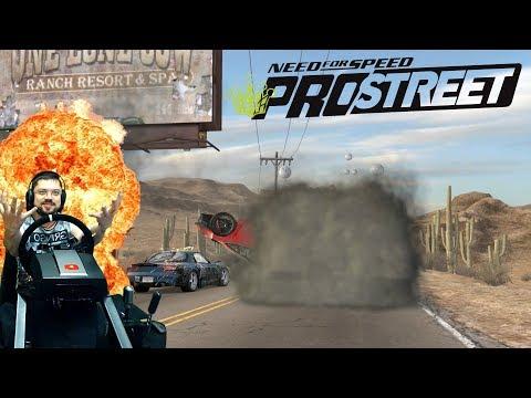 Невада Хайвей скоростные гонки на Lamborghini Gallardo и полыхающий Соний NFS: ProStreet