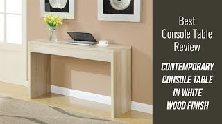 Elegant Console Table Review - Contemporary Console Table in Weathered White Wood Finish