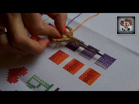 Как делать французский крест в вышивке 42
