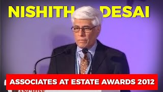 Nishith Desai speaking at Estate Awards