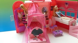 Ngôi Nhà Có Bồn Tắm 2 Trong 1 Của Búp Bê Barbie Mới - Ken Thăm Nhà Barbie Và Elsa( (Bí Đỏ)