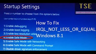 how to fix Windows 8.1  blue screen error IRQL_NOT_LESS_OR_EQUAL with Driver Verifier Manager