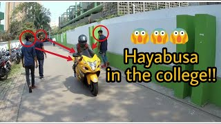 Taking The Hayabusa To The College | College Reaction |