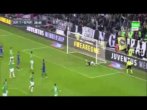 Stephan Lichtsteiner Goal Juventus vs Parma 1-0/9/11/2014 Serie A