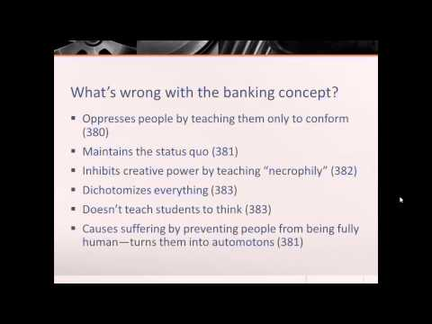 Essay on the banking concept of education