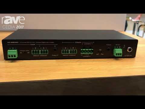 CEDIA 2017: Key Digital Intros KD-AMP220 Compact Digital Amplifier