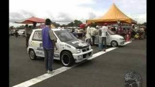 Tawau Small Car Drag pecah dara mira class E 2007 Dec