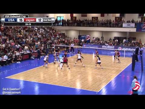 U.S. Women vs Japan - July 13 USA Volleyball Cup Part 1