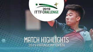 Zhang Kai vs Daniel Santos | 2019 ITTF Paraguay Open Highlights (Group)