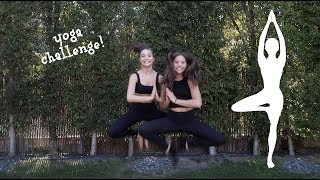 YOGA CHALLENGE pt. 2 !! || with my sister maddie!