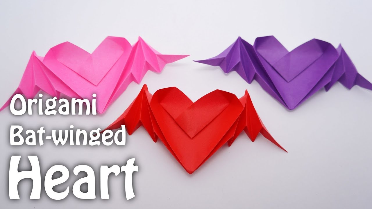Bat Heart Origami Origami Bat-winged Heart Riki