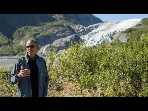 Obama Hikes Glacier to Highlight Climate Change