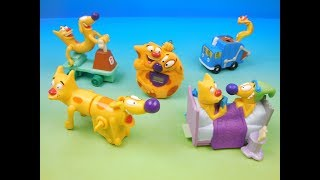 1999 NICKELODEON'S CATDOG SET OF 5 BURGER KING KIDS MEAL TOYS VIDEO REVIEW
