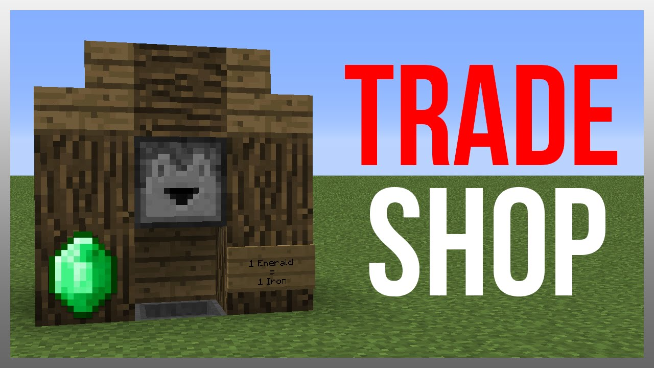Minecraft 1.8 redstone tutorial best trading system