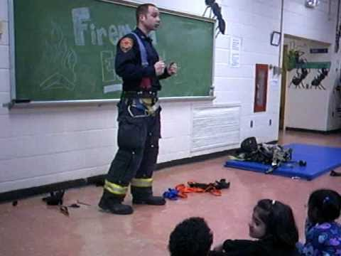 Fireman Ed visits the Kindergartners of Hillcrest School. Part 4 of 4