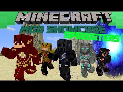 Minecraft- Mod Showcase: SPEEDSTERS!! FASTEST MEN ALIVE!! (UPDATE)