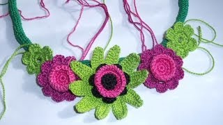 Crochet summer necklace by Fibreromance