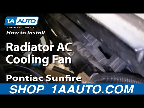 How To Install Replace Radiator AC Cooling Fan Chevy Cavalier Pontiac Sunfire 95-05 1AAuto.com