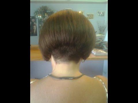 Hair Makeover Bob Haircut with a Buzzed Nape