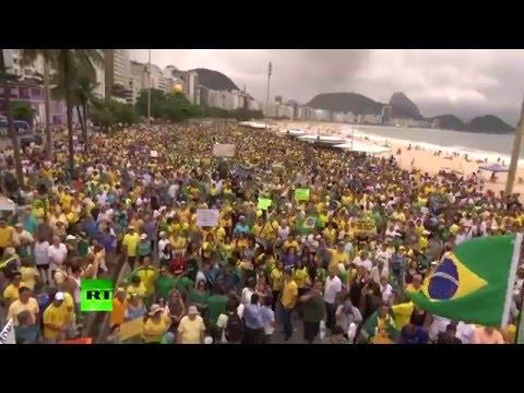 RAW: Millions take part in biggest anti-govt protest in Brazil