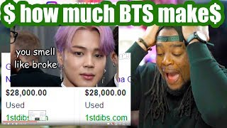 bts making people feel poor | how much money do they make?! Reaction!!!