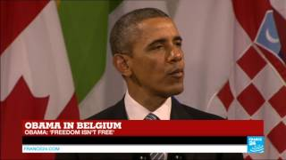 Barack Obama's speech in Belgium