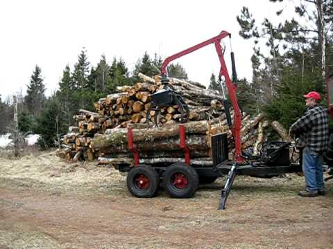 My home made log loader Video # 2