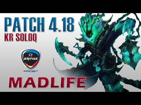 CJ Frost MadLife - Thresh Support - KR SoloQ