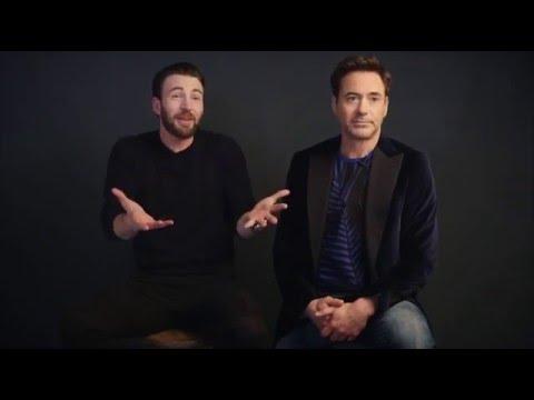 Chris Evans & Robert Downey Jr. on People Magazine