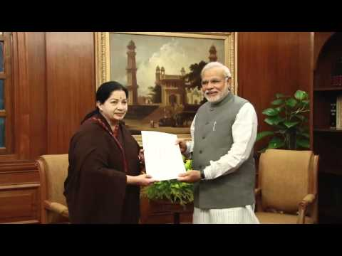 Tamil Nadu CM J Jayalalithaa meets PM Narendra Modi on 3rd June.