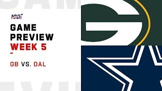 Green Bay Packers vs. Dallas Cowboys Week 5 NFL Game Preview