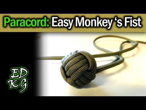 Simple Paracord: Monkey's Fist (EASY 4 pass version)