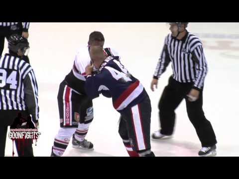 Jon Mirasty Vs Francis Lessard Round 2 LNAH River Kings Vs Eperviers Oct 24th 2014